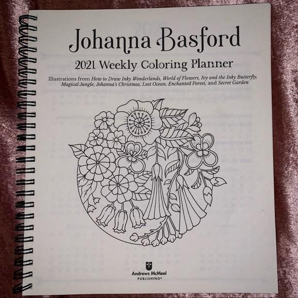 2021 Weekly Coloring Planner Calendar